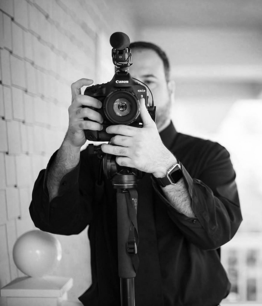 black and white atlanta wedding videographer